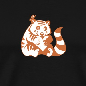 Valentine Raccoon with Heart - Men's Premium T-Shirt