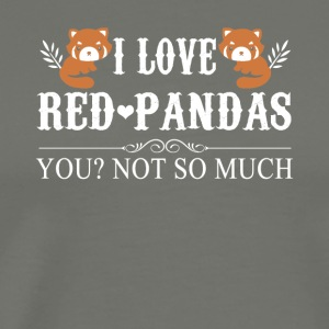 I Love Red Pandas Tee Shirt - Men's Premium T-Shirt