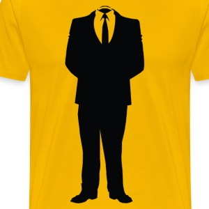 Anonymous Man In Suite - Men's Premium T-Shirt