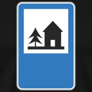 Road_sign_forest_home - Men's Premium T-Shirt