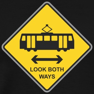 Road_Sign_look_both_ways - Men's Premium T-Shirt