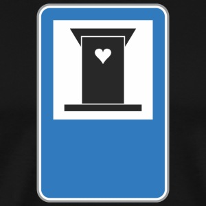 Road_sign_heart - Men's Premium T-Shirt