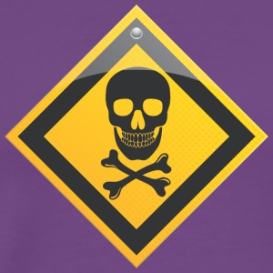 Road_sign_danger_skull_with_crossbones - Men's Premium T-Shirt