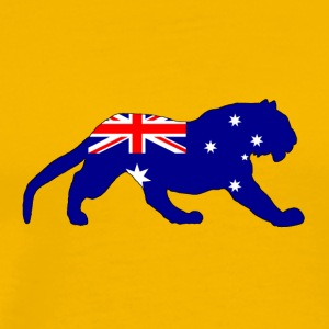 Australian Flag - Tiger - Men's Premium T-Shirt