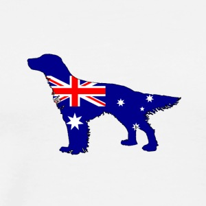 Australian Flag - English Setter - Men's Premium T-Shirt