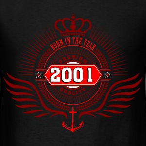 born_in_2001_crown05 T-Shirts - Men's T-Shirt