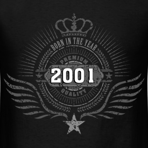 born_in_2001_crown06 T-Shirts - Men's T-Shirt