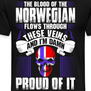 The Blood Of The Norwegian Proud Of It T-Shirts - Men's Premium T-Shirt