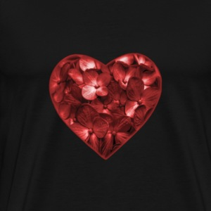 Floral Heart Shape Ornament - Men's Premium T-Shirt