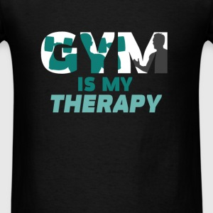 Gym - Gym is my therapy - Men's T-Shirt