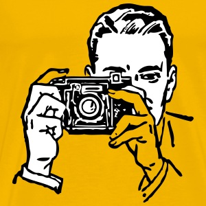 man with a camera - Men's Premium T-Shirt