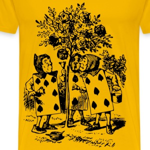 Alice In Wonderland 28 Card Men - Men's Premium T-Shirt