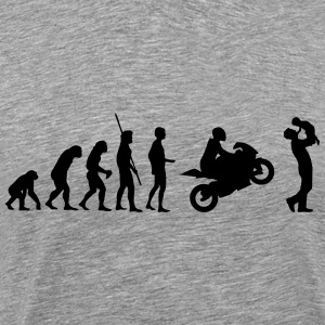 Evolution motorcycle with father and child Shirt - Men's Premium T-Shirt