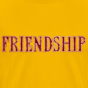 Noble characteristic typography friendship - Men's Premium T-Shirt