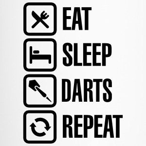 Eat - Sleep - Darts - Repeats Mugs & Drinkware - Travel Mug