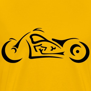 Stylized Motorcycle Silhouette - Men's Premium T-Shirt