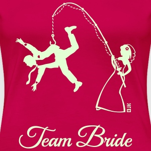 Team Bride Husband Fishing (Hen Party 1C) T-Shirts - Women's Premium T-Shirt