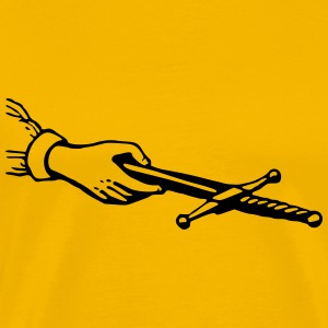 Hand offering a dagger - Men's Premium T-Shirt