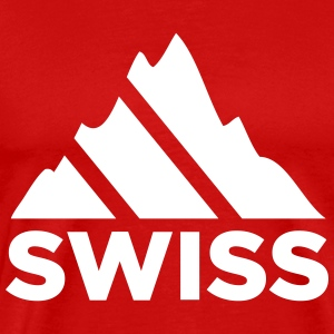 Swiss Mountains Switzerland T-Shirts - Men's Premium T-Shirt