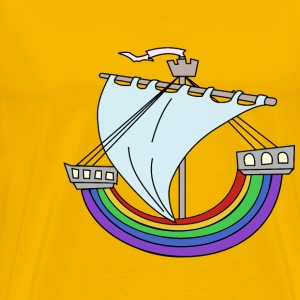 Rainbow Boat - Men's Premium T-Shirt
