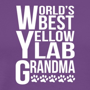 World's Best Yellow Lab Grandma - Men's Premium T-Shirt