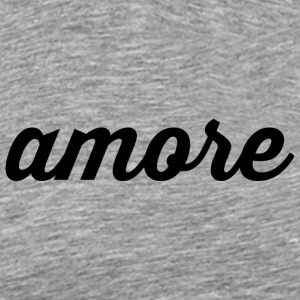 Amore - Cursive Design (Black Letters) - Men's Premium T-Shirt