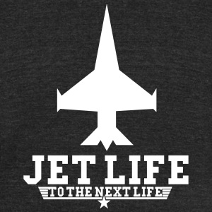 jet life to the next life - Unisex Tri-Blend T-Shirt by American Apparel