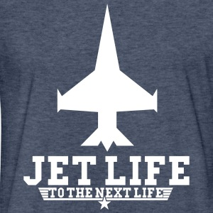 jet life to the next life - Fitted Cotton/Poly T-Shirt by Next Level