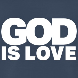 God Is Love - Ivy Design (White Letters) - Men's Premium T-Shirt