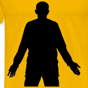 Man With Arms Out Silhouette - Men's Premium T-Shirt