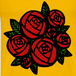 Bunch of Red Roses - Men's Premium T-Shirt