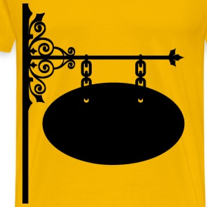 Ornate Decorative Wrought Iron Sign - Men's Premium T-Shirt