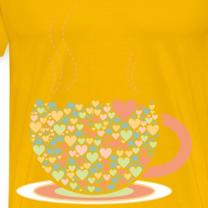 Love Hearts Coffee By Lin_Chu - Men's Premium T-Shirt