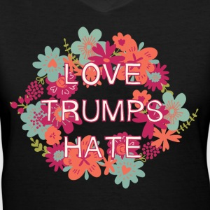 Love Trumps Hate T-Shirts - Women's V-Neck T-Shirt