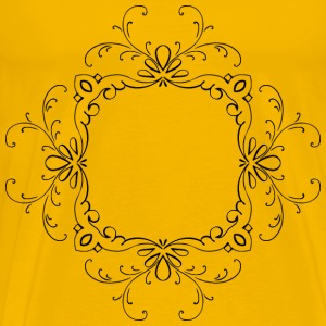 Vintage Calligraphic Flourish Frame Extrapolated - Men's Premium T-Shirt