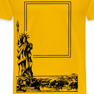 Simple New York Frame - Men's Premium T-Shirt