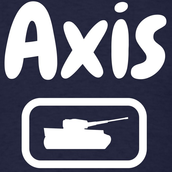 Axis Tank Tee with Stylized White Text