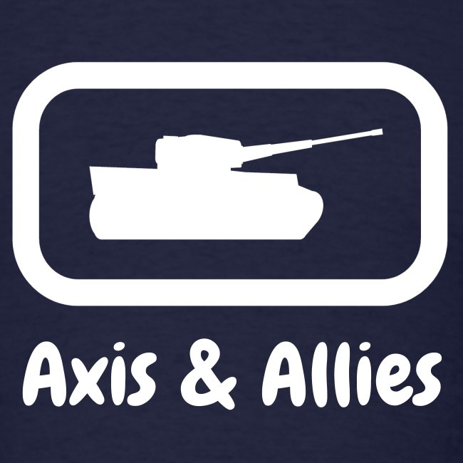 Axis & Allies Tank Tee with Stylized White Text