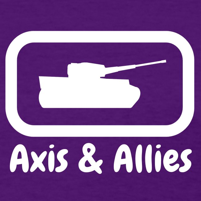 Axis & Allies Tank Tee with Stylized White Text (Women's)