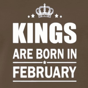 Baby Kings Are Born In February Newborn clothes - Men's Premium T-Shirt