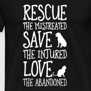 Rescue, Save, Love  T-Shirts - Men's Premium T-Shirt