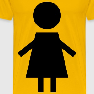 Female Symbol Silhouette 2 Black - Men's Premium T-Shirt
