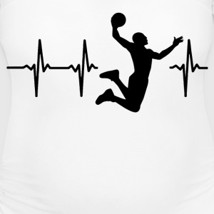 My heart beats for basketball T-Shirts - Women's Maternity T-Shirt
