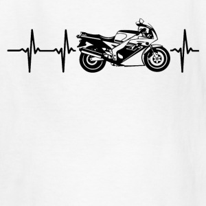 My heart beats for motorbikes Kids' Shirts - Kids' T-Shirt