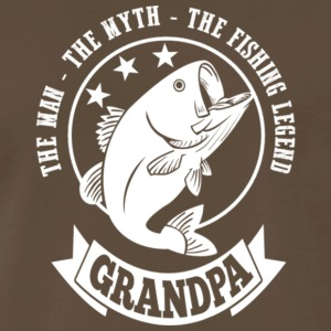 The Man The Myth The Fishing Legend Grandpa Shirt - Men's Premium T-Shirt