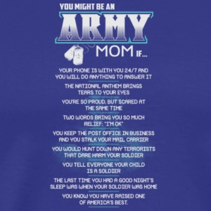 Proud Army Mom T Shirt - Men's Premium T-Shirt