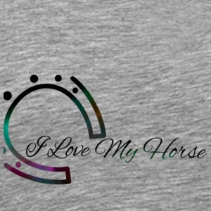I Love My Horse Design by Kat - Men's Premium T-Shirt