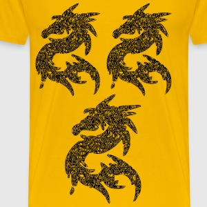 DRAGON STICKERS - Men's Premium T-Shirt