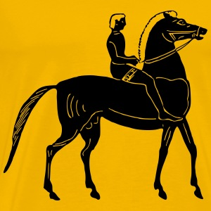 Man on horse 2 - Men's Premium T-Shirt
