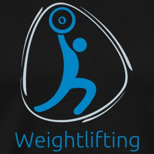 Weightlifting_blue - Men's Premium T-Shirt